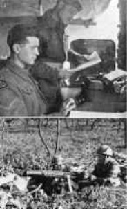 Top: Red Patch Ortona March 1944 / Bottom: V.M.G