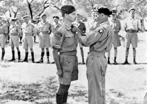 Gen. Montgomery decorates Sgt. Fortman - 23rd August, 1943 – Sicily