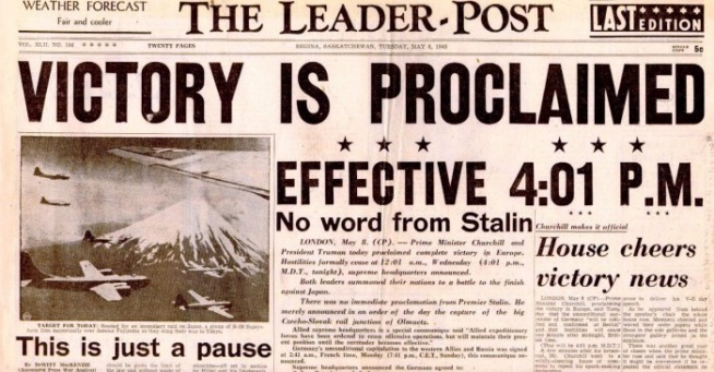 Leader Post May 8, 1945